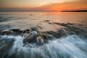 Seascape Photos - Adriatic sunset II by Davorin Mance