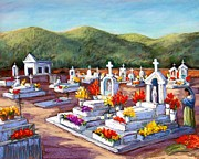 Graves Pastels - Aduana Cemetery by Candy Mayer