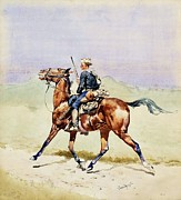 Old West Prints - Advance Guard Print by Pg Reproductions