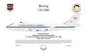 Boeing 747 Prints - Advanced Airborne Command Post Print by Arthur Eggers