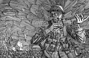 Combat Drawings - Advancing in Darkness by J S  Ferguson