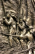 Advancing The Colors - State Of Delaware Monument Gettysburg Detail-a Autumn Mid-day Print by Michael Mazaika