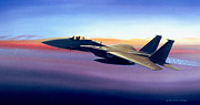 Usaf Painting Framed Prints - Advantage Eagle Framed Print by Michael Swanson