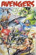 Hulk Mixed Media Framed Prints - Advengers Framed Print by Big Mike Roate