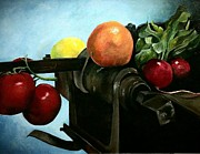 Fruit Still Life Posters - Adventure Fruit Poster by Molly Markow