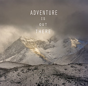 Lanscape Posters - Adventure is out there. At the mountains Poster by Guido Montanes Castillo
