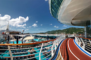 Running Metal Prints - Adventure of the Seas Jogging Track Metal Print by Amy Cicconi