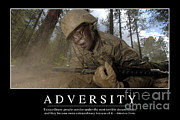 Frustration Posters - Adversity Inspirational Quote Poster by Stocktrek Images