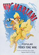 Red Wine Drawings Posters - Advertisement for Vin Mariani from Theatre Magazine Poster by English School