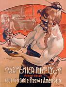 Advertisemet For Marmonier Fils Lyon Print by Adolfo Hohenstein