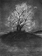 Landscapes Drawings Metal Prints - Advice From A Tree Metal Print by J Ferwerda