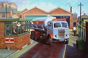 Nostalgia Paintings - AEC bulk tanker by Mike  Jeffries