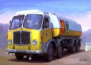 Transportart Originals - AEC fuel tanker. by Mike  Jeffries