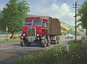 Jaguar Paintings - AEC Mammoth Major in Devon by Mike  Jeffries