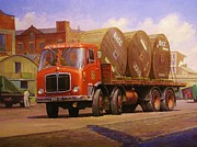 England Artist Paintings - AEC Mammoth Major Mk V by Mike  Jeffries