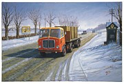 1960s Paintings - AEC Mandator by Mike  Jeffries