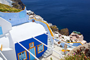 Veranda Framed Prints - Aegean and Small villas Framed Print by Aiolos Greece Collection