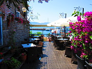 Molyvos Prints - Aegean Cafe Print by Andreas Thust