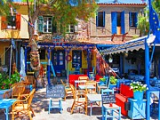 Molyvos Prints - Aegean Colours Print by Andreas Thust
