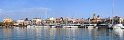 Mediterranean Style Framed Prints - Aegina town harbour  Framed Print by Paul Cowan