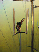 Aerial Acrobatic Artistry2  Print by Anne Mott
