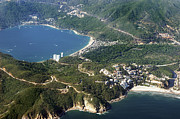 Gore Range Photos - Aerial  of Acapulco Bay Mexico from Both Sides by Jodi Jacobson