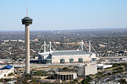 Tower Of The Americas Photos - Aerial of Hemisfair in San Antonio Texas by Bill Cobb