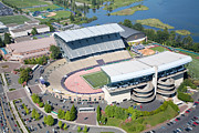 Huskies Prints - Aerial of Husky Stadium Print by Bill Cobb