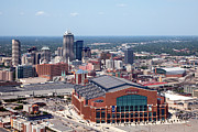 Indiana Scenes Photos - Aerial of Indianapolis Indiana by Bill Cobb