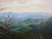 Blue Ridge Parkway Paintings - Aerial Perspective by Janet Wimmer