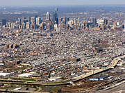 Philly Framed Prints - Aerial Philadelphia Framed Print by Olivier Le Queinec