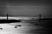 Navigate Framed Prints - Aerial Shot Ships Navigate New York Bay Harbor Under Verrazano Narrows Bridge New York Framed Print by Joe Fox