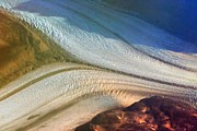 Coldest Prints - Aerial  View of an Antarctica Glacier Flow Print by Marcia Fontes Photography