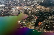 Jenny Rainbow - Aerial View of Bay. Rainbow Earth
