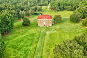Drayton Hall Framed Prints - Aerial View of Drayton Hall Framed Print by Vanessa Kauffmann