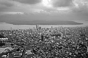 Aerial View Of Guayaquil City Print by Sami Sarkis