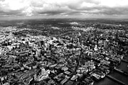 London Skyline Art - Aerial View of London 2 by Mark Rogan