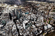 London Skyline Art - Aerial view of London 3 by Mark Rogan