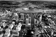 Canary Metal Prints - Aerial view of London 5 Metal Print by Mark Rogan
