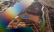 Jenny Rainbow - Aerial View of Riga. Latvia. Rainbow Earth