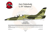 Czech Digital Art Metal Prints - Aero Vodochody Albatros Metal Print by Arthur Eggers