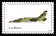 Czech Republic Digital Art Prints - Aero vodochody L-39 Albatros Print by Arthur Eggers