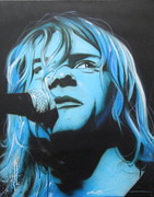 Kurt Cobain Metal Prints - Aero Zeppelin Metal Print by Christian Chapman Art