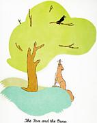 Aesop: Fox & Crow Print by Granger