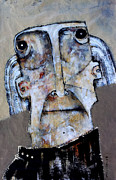 Outsider Art Mixed Media Framed Prints - AETAS No 1 Framed Print by Mark M  Mellon