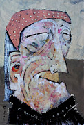 Outsider Art Mixed Media Framed Prints - AETAS No 2 Framed Print by Mark M  Mellon