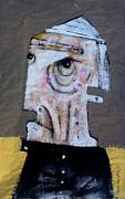 Outsider Art Mixed Media Metal Prints - AETAS No 8 Metal Print by Mark M  Mellon