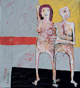 Nudes Mixed Media - AETAS No 9 by Mark M  Mellon