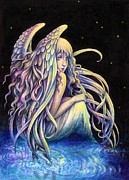 Night Angel Paintings - Aetherea by Brynn Elizabeth Hughes