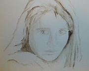 Iconic Paintings - Afghan Girl by Dana Mallon